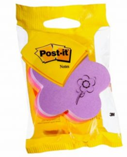 Post-It  2007F flower orange/pink/purple