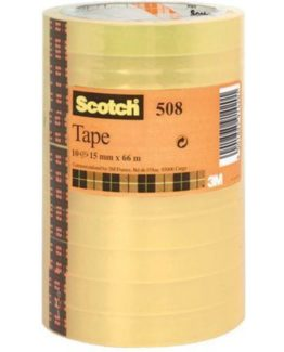 Scotch 508 Tape 15mmx66m transparent tower (10)