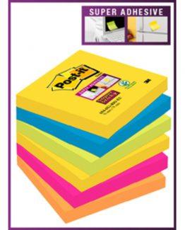 Post-it 6546SSRI Super Sticky Notes 76x76 Rio ass (6)
