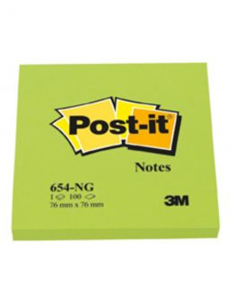 Post-It  654 76x76 mm, lime green
