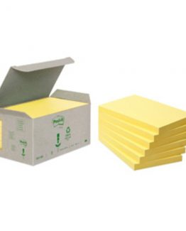 Post-it 6551B Notes 76x127 recycle tower yellow (6)