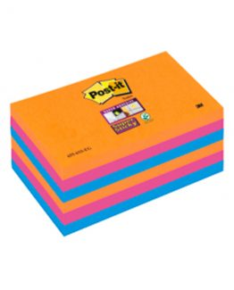 Post-it 6556SSEG Super Sticky Notes 76x127 Electric Glow (6)