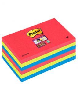 Post-it 6556SSJP Super Sticky Notes 76x127 Jewel Pop (6)