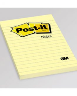 Post-It  standard 660 Linjerat 102x152 mm yellow