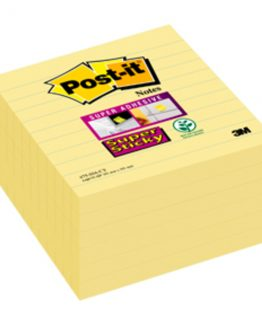 Post-It Super Sticky yellow 101x101 ruled (6)