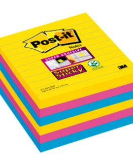 Post-It Super Sticky ass. 101x101 ruled (6)