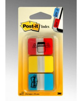 Post-It Index strong 1'', red/yellow/blue (686RYB)