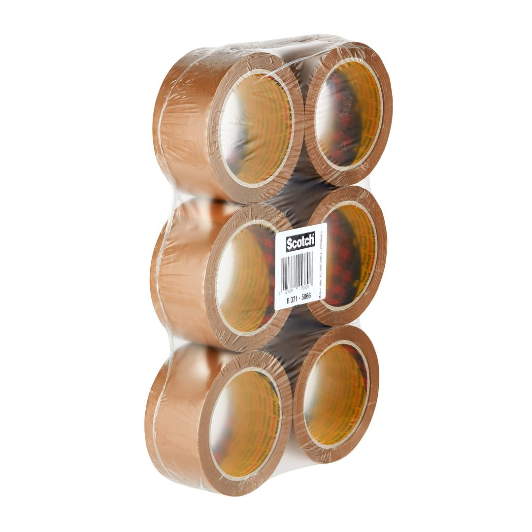 Packaging tape 371 50mmx66m brown (6)