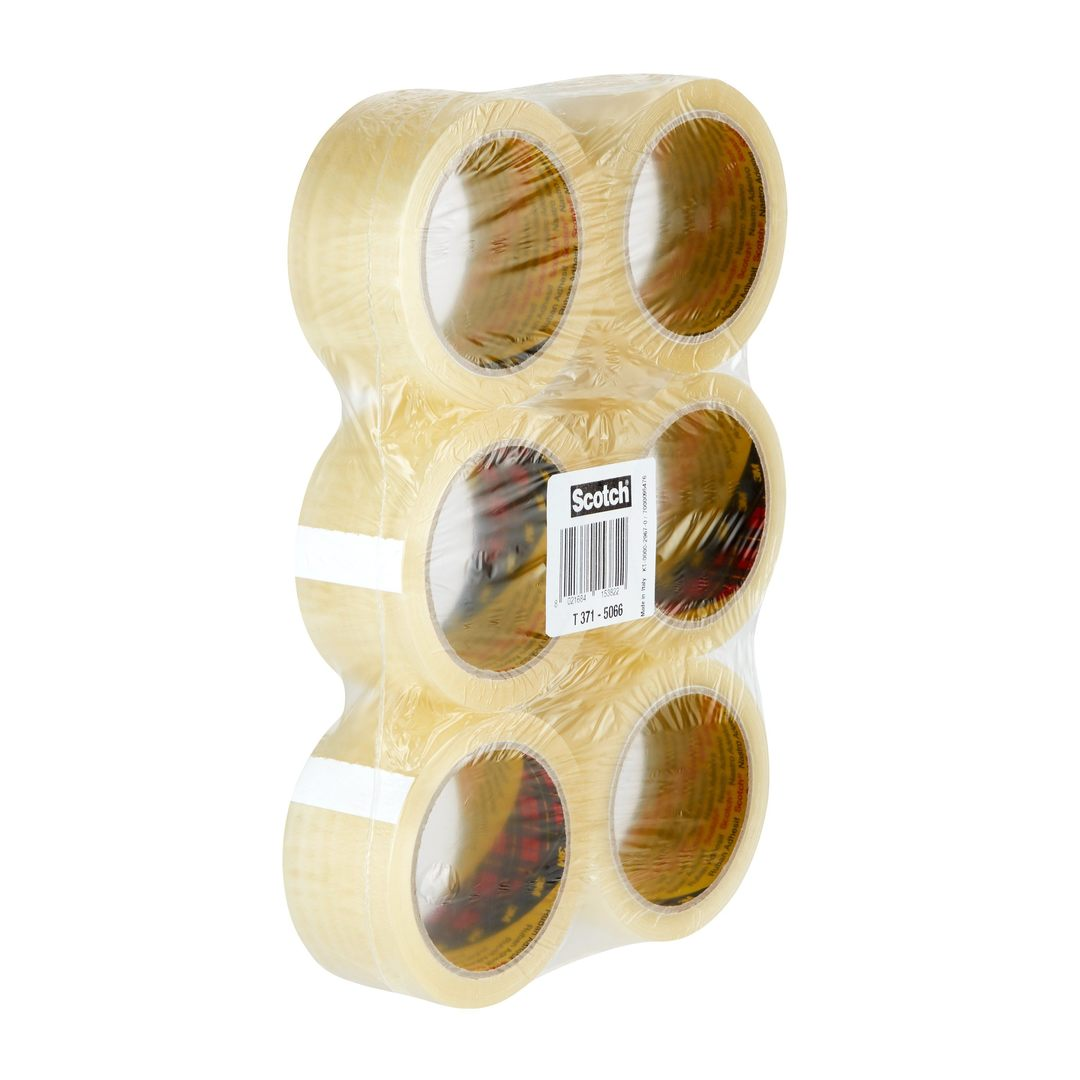 Packaging tape 371 50mmx66m clear (6)