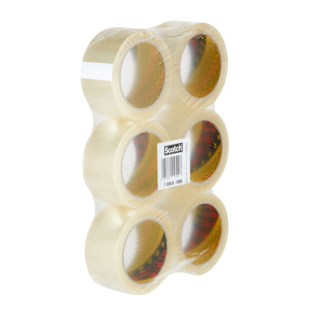 Packaging tape 309 Low Noise 50mmx66m clear (6)