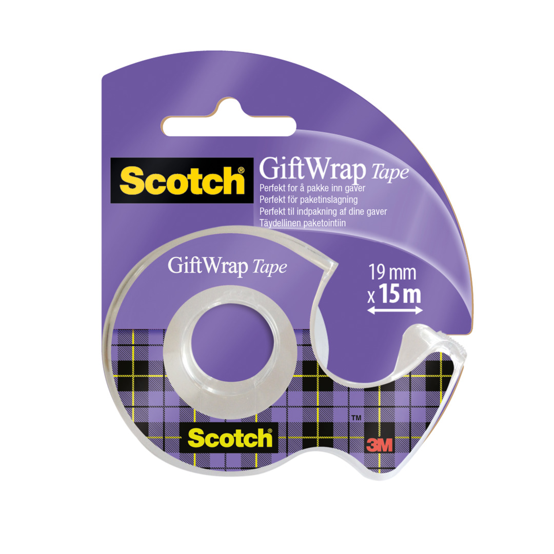 Tape GiftWrap 19mm x 15m