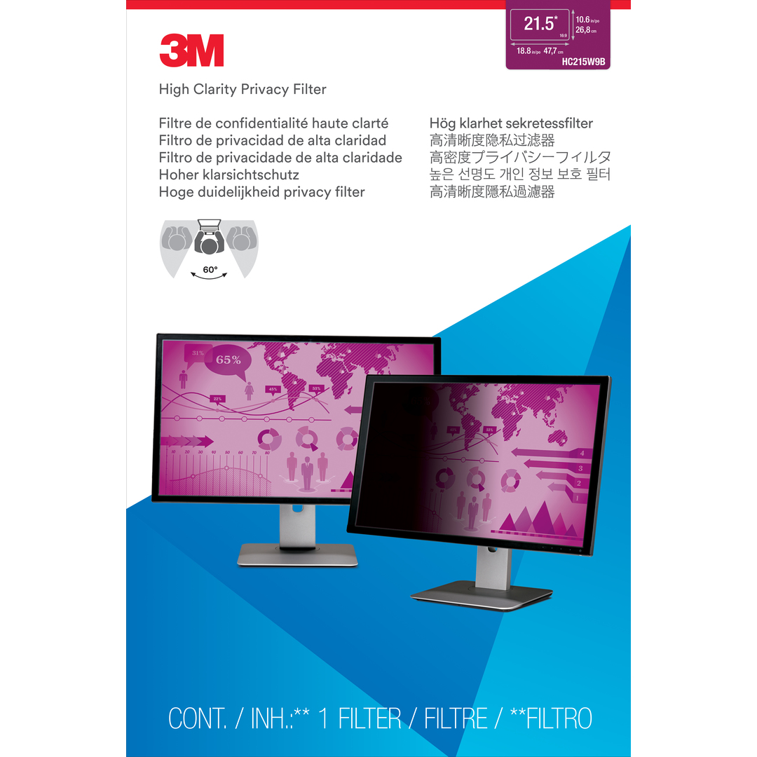 3M High Clarity Privacy Filter 21.5'' Widescreen (16:9)