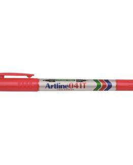 Artline 041T Twin Marker red