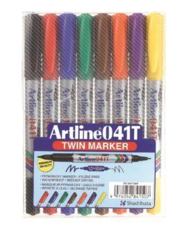 Artline 041T Twin Marker 8-set
