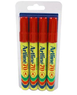 Artline 70 Permanent 4-Blister  red