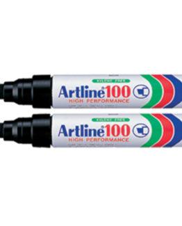 Permanent Marker Artline 100 black 2/Bl.