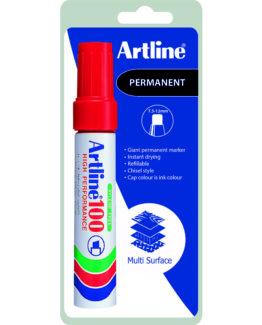 Permanent Marker Artline 100 red 1/Bl.