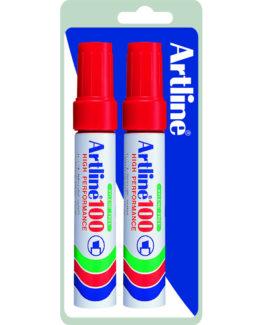 Permanent Marker Artline 100 red 2/Bl.