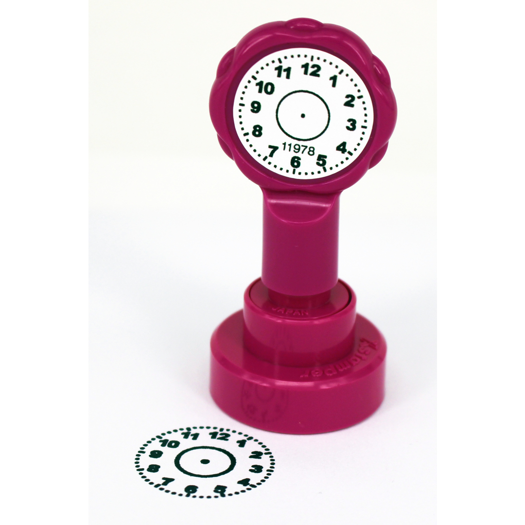 X Clamations clock face black Artline