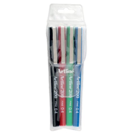 Fineliner Artline 200 Fine 0.4 4-pack