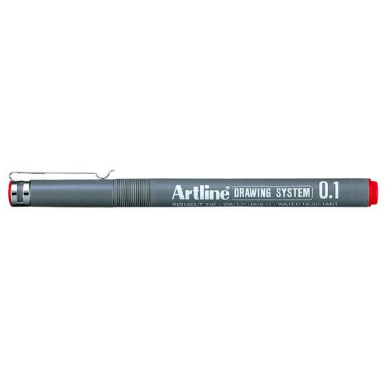 Artline 231 Drawing red