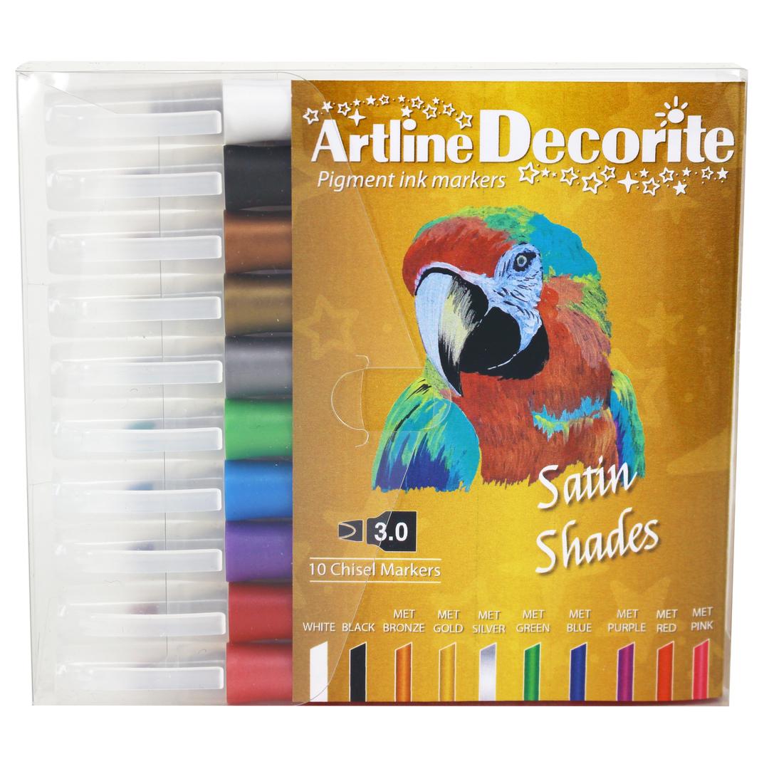 Artline Decorite Flat metallic 10-pack