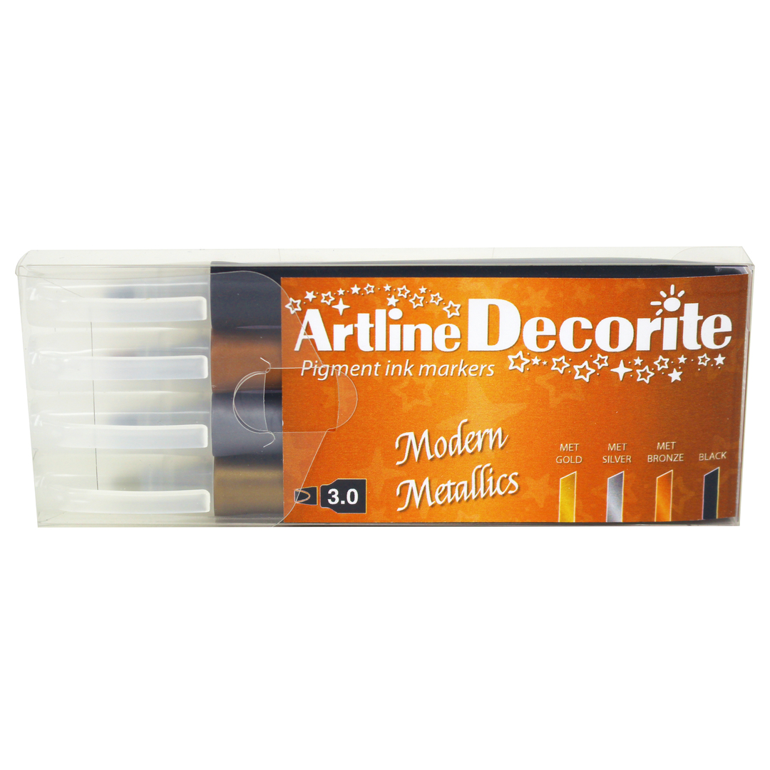 Artline Decorite Flat Modern metallic 4-pack