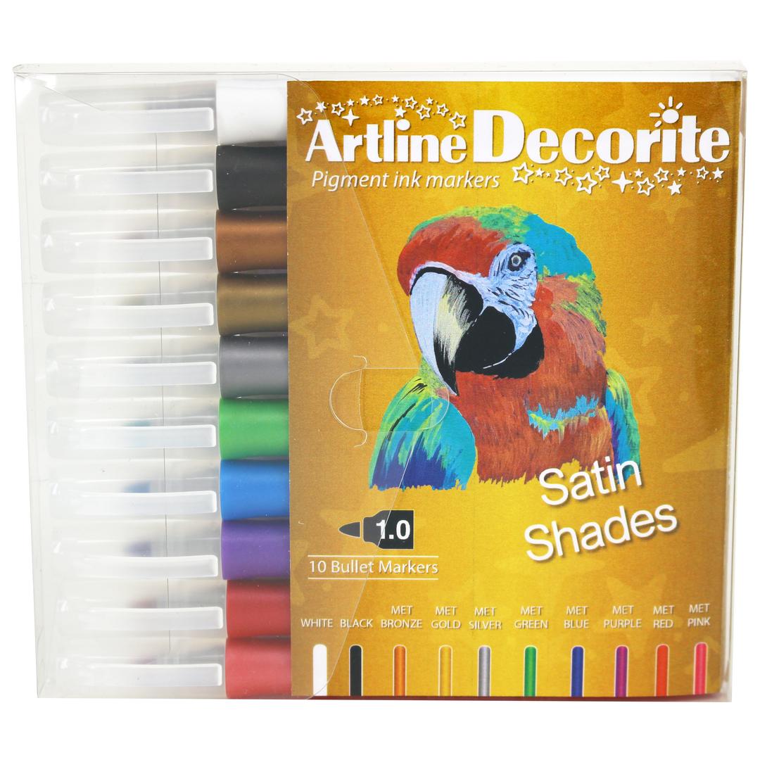 Artline Decorite bullet metallic 10-pack