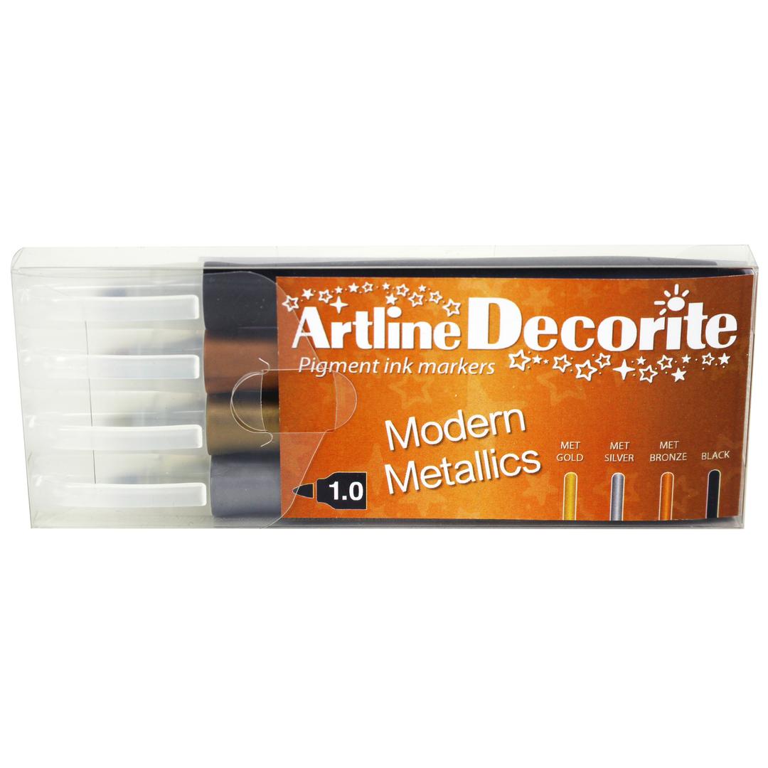 Artline Decorite bullet Modern metallic 4-pack