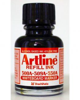 Artline refill ink Whiteboard black 20ml