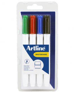 Artline Supreme Whiteboard 4-Pack Ass