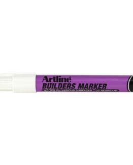 Artline builders marker white