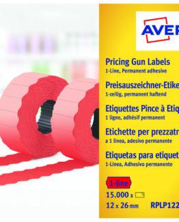 Labels 26x12 G2 fluor red 10-rolls