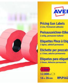 Labels 26x16 G2 fluor red 10-rolls