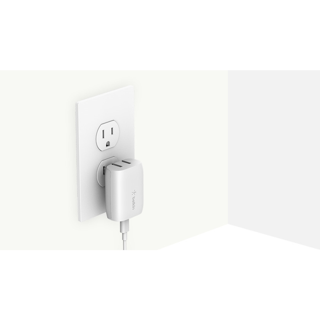 18W USB-C Home Charger & C-LTG Cable, White (1.2m)