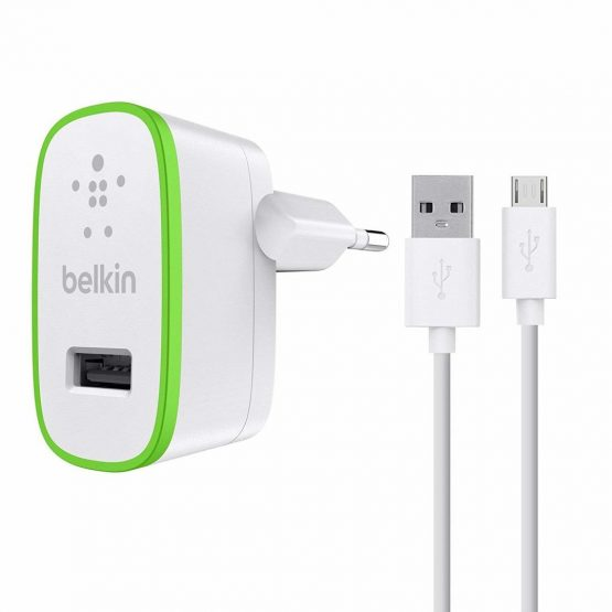Universal Wall Charger w/Micro USB Cable 2.1A, White