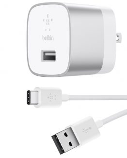 BOOST UP Quick Charge 3.0 Home Charger w/USB-A to USB-C Cabl