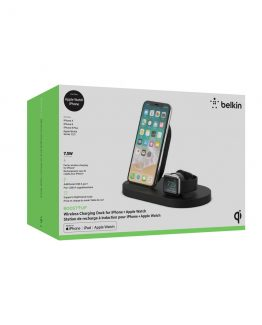 Wireless 7.5W Charge Dock for Apple Watch & iPhone, Black