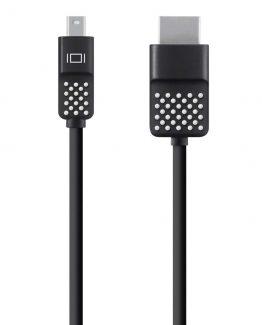 Mini DisplayPort to HDTV Cable, Black (1.8m)