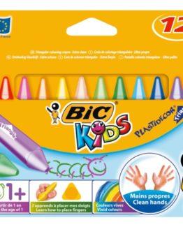 BIC Plastidecor crayons 12/case