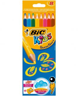 BIC Kids colour pencils supersoft 8 pcs