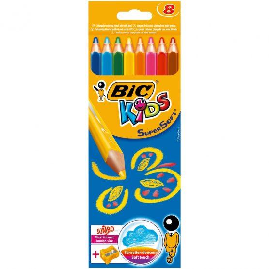 BIC Kids colour pencils supersoft 8 pcs