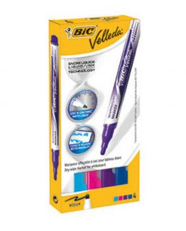 BIC Velleda Whiteboard Fashion 4/s