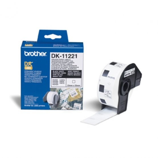 Squared labels 23x23 white paper (1000)