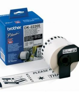 Brother labels 62mmx30,48m white paper