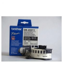 Brother labels 29mmx15,24m white film