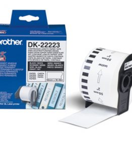 Brother labels 50mmx30,48m white paper