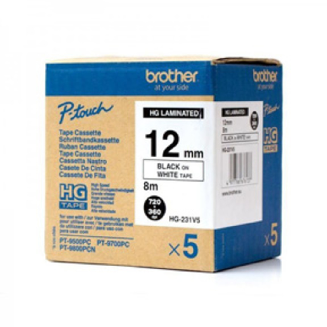 Brother HG tape 12mm black on white (5)