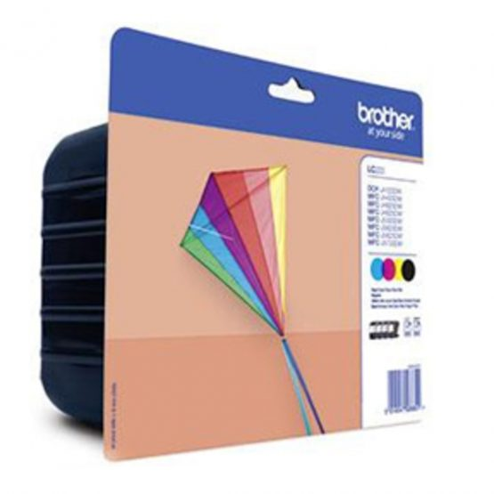 LC223VAL CMYK ink cart. value blister