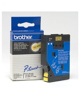 Brother TC tape 12mm black/yellow